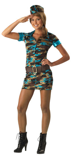 Major Trouble Teen Army Costume
