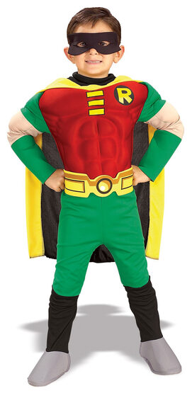 Teen Titans Robin Muscle Chest Deluxe Toddler Costume
