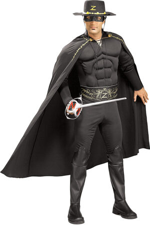 Zorro Muscle Chest Deluxe Adult Costume