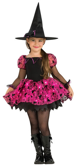 Girls Moonlight Magic Kids Witch Costume