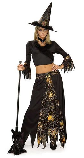 Womens Spiderella Adult Witch Costume