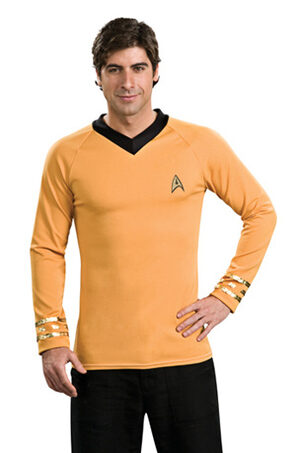 Star Trek Deluxe Gold Adult Shirt