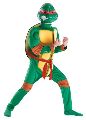 Raphael Muscle Chest Ninja Kids Costume