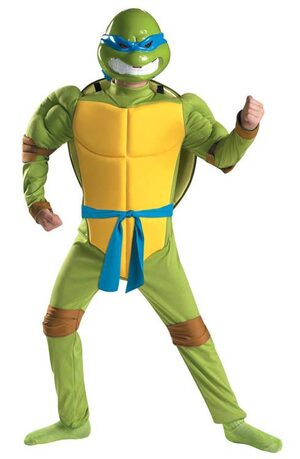 Leonardo Muscle Chest Ninja Turtle Kids Costume