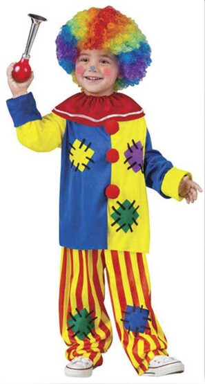 Kids Big Top Toddler Clown Costume