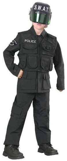 Kids SWAT Team Police Costume