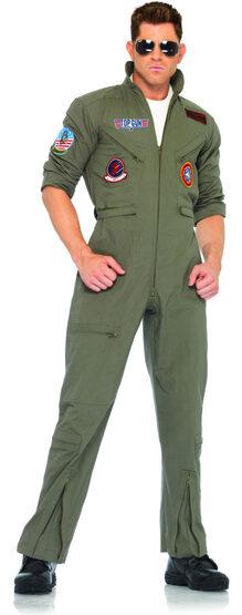 Mens Flight Suit Top Gun Costume