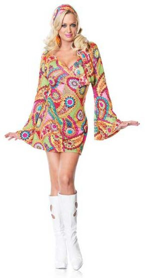 Womens Hippie Chick Adult 60s Costume