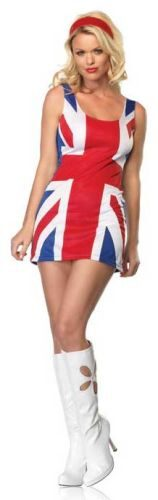 Sexy British Flag Dress 60s Costume
