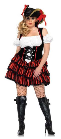 Shipwreck Sexy Plus Size Pirate Costume