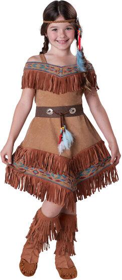 Elite Girls Indian Maiden Kids Costume