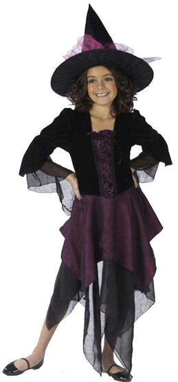 Kids Magical Miss Witch Costume
