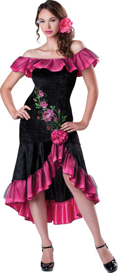 Sexy Flirty Flamenco Spanish Dancer Costume