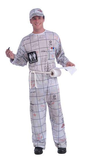Funny Bathroom Wall Guy Adult Costume