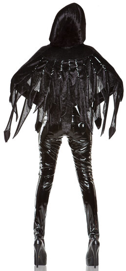 Womens Gothic Raven Mad Adult Costume