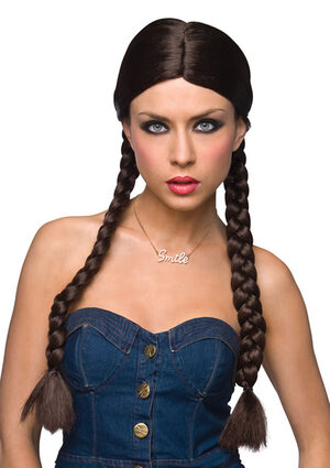 Dorothy Long Brown Braided Wig
