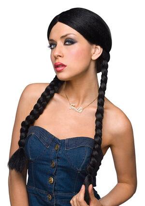 Dorothy Long Black Braided Wig