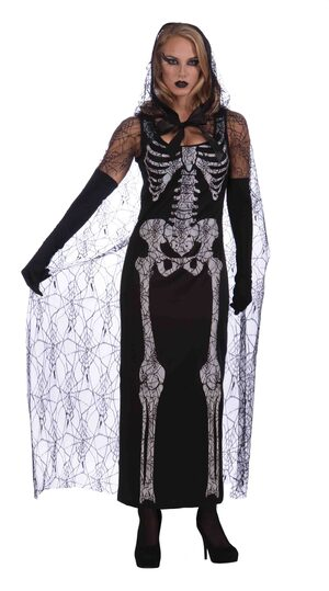 Womens Graveyard Shift Skeleton Adult Costume