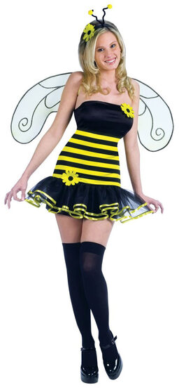Womens Honey Bee Sexy Costume