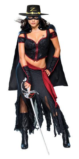 Womens Sexy Lady Zorro Costume