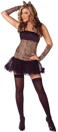 Womens Wild Cat Sexy Cougar Costume