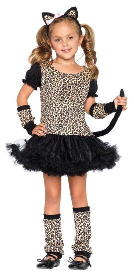 Kids Leopard Dress Cat Costume