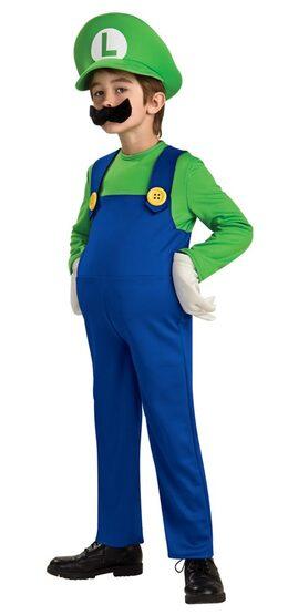 Kids Deluxe Mario Brothers Luigi Costume