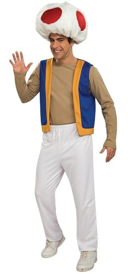 Adult Mario Brothers Toad Costume
