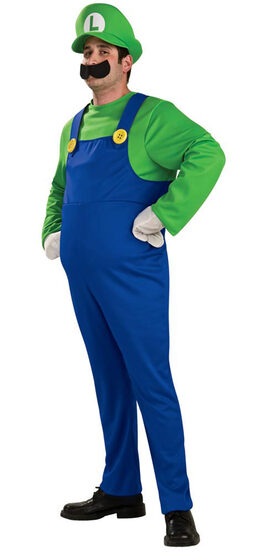 Adult Deluxe Mario Brothers Luigi Costume