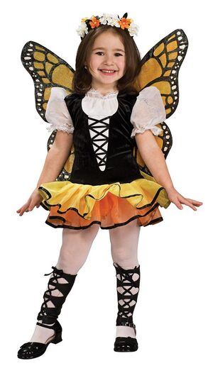 Kids Monarch Butterfly Girls Costume