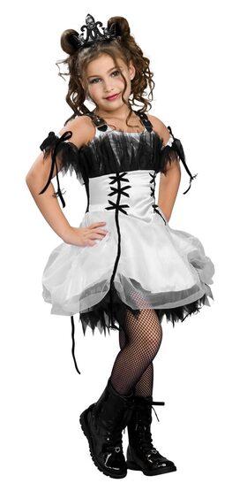 Kids Gothic Ballerina Costume