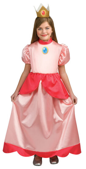 Girls Mario Brothers Princess Peach Costume
