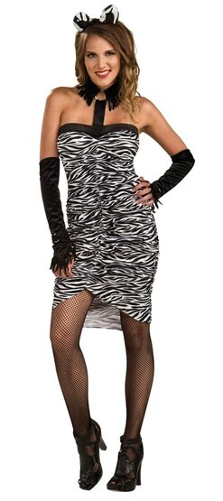 Womens Sexy Zebra Costume