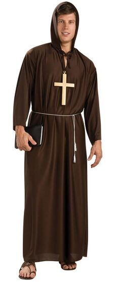 Mens Adult Medieval Renaissance Monk Costume