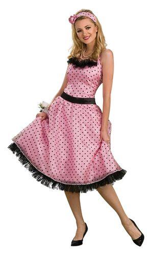 Adult Polka Dot Prom 60s Costume