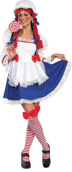 Womens Sexy Rag Doll Costume
