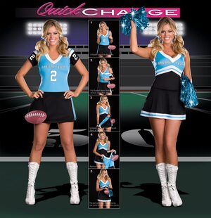Quick Change Dream Team to Sexy Cheerleader Costume