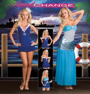 Quick Change Sexy Mermaid to Sailor Costume