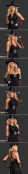 6-Style Womens Hocus Pocus Sexy Witch Costume