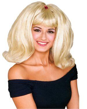 Adult Blonde 50s Flip Wig