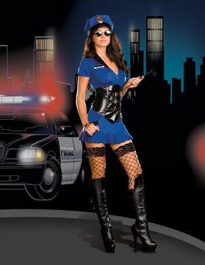 Officer Anita Friskya Sexy Cop Costume