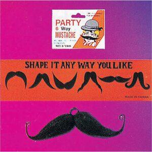 Adult Easy Shape Six-Way Moustache