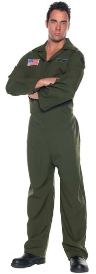 Mens Adult Air Force Jumpsuit Costume
