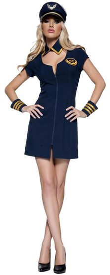 Womens Fly Me Sexy Pilot Costume