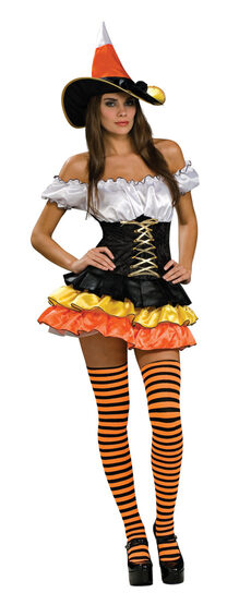 Candy Corn Sexy Witch Costume