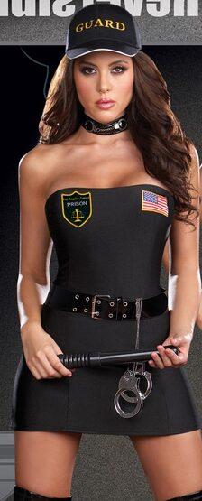 Reversible Prison Guard Sexy Convict Costume