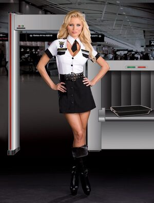 Tara U Clothesoff Strip Search Sexy Cop Costume