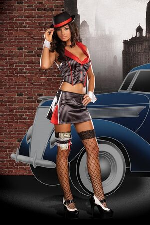 Alice Capone Sexy Gangster Costume