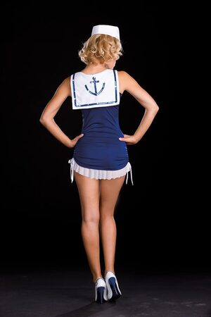Cute Salute Sexy Sailor Girl Costume