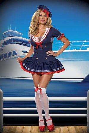 Hello Sexy Plus Size Sailor Girl Costume